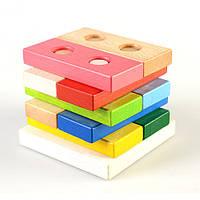 Пирамидка «Цветные плашки» (в коробке), ТАТО