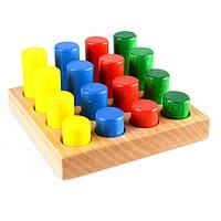 Цветные цилиндры по методике Монтессори, ТАТО, фото 1