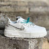 Женские кроссовки Nike Air Force Type 1 Low White   Найк Аир Форс 1 Тайп 1 Лоу Белые