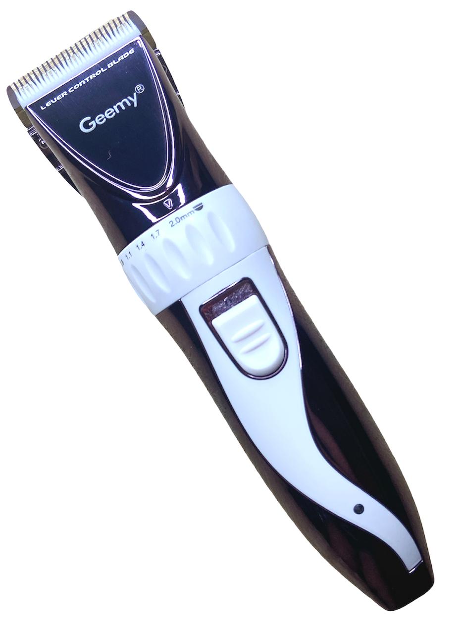 Машинка для стрижки волосся акумуляторна Geemy GM-6062 з керамічними ножами