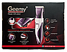 Машинка для стрижки волосся акумуляторна Geemy GM-6062 з керамічними ножами, фото 7