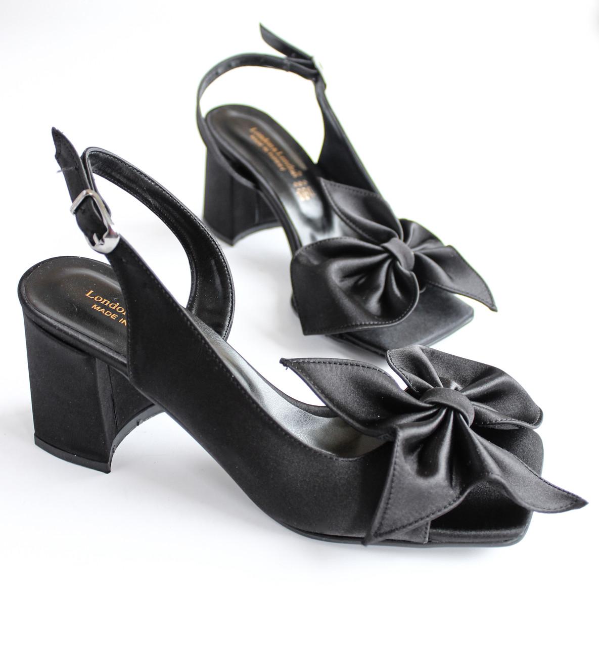 L&L / Женские босоножки на каблуке черные