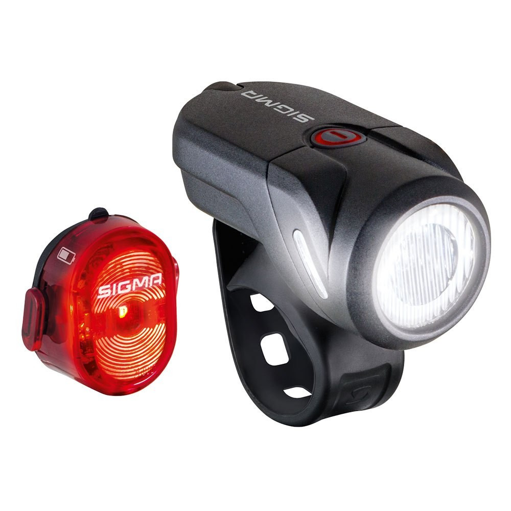 Комплект велосвітла Sigma Sport Aura 35 / Nugget II K-Set USB Чорний SD17360