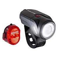 Комплект велосвітла Sigma Sport Aura 35 / Nugget II K-Set USB Чорний SD17360, фото 1