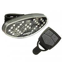 Задній ліхтар ONRIDE Wink USB з покажчиками повороту Чорний 69079900073, фото 1
