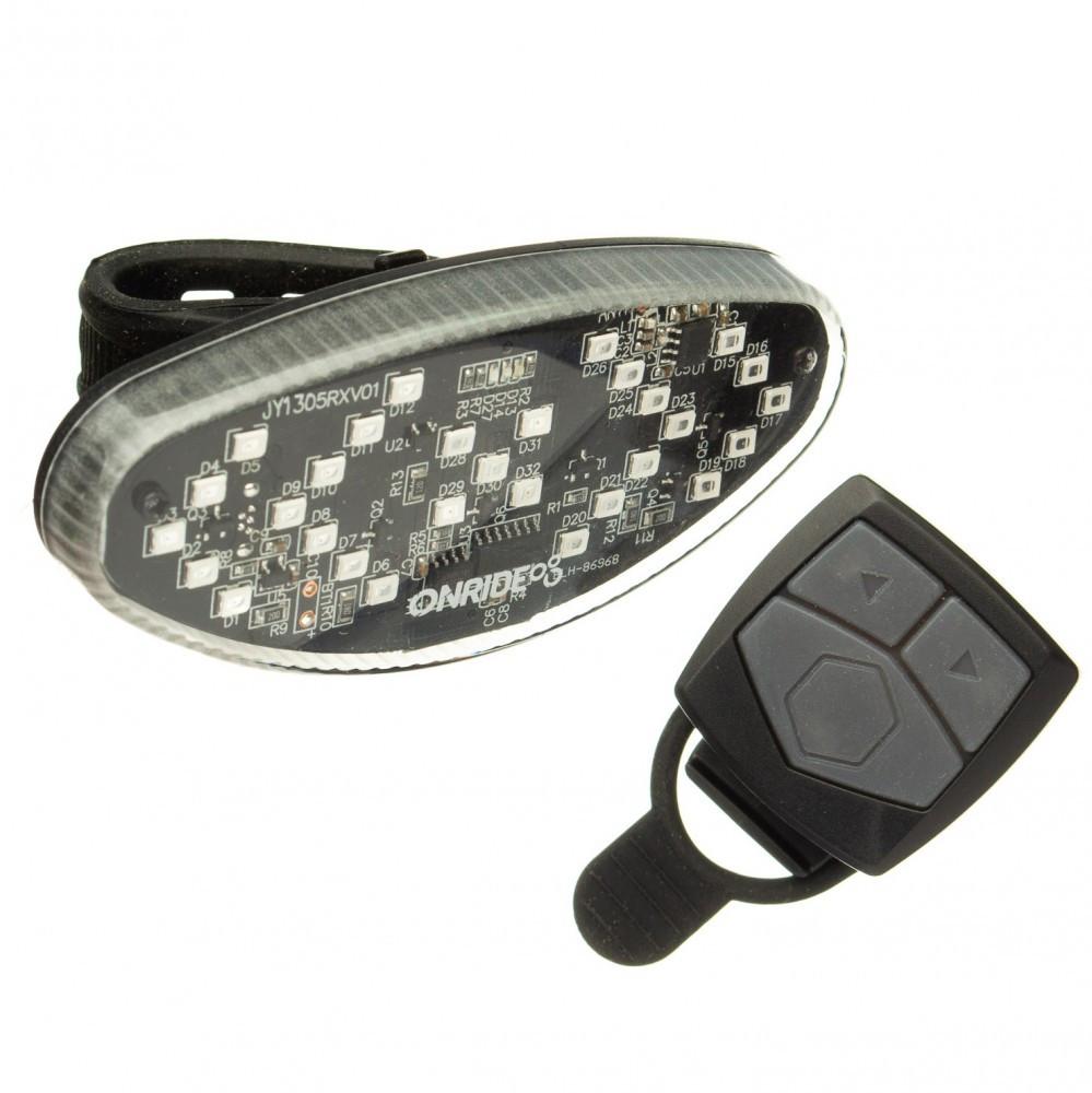 Задній ліхтар ONRIDE Wink USB з покажчиками повороту Чорний 69079900073