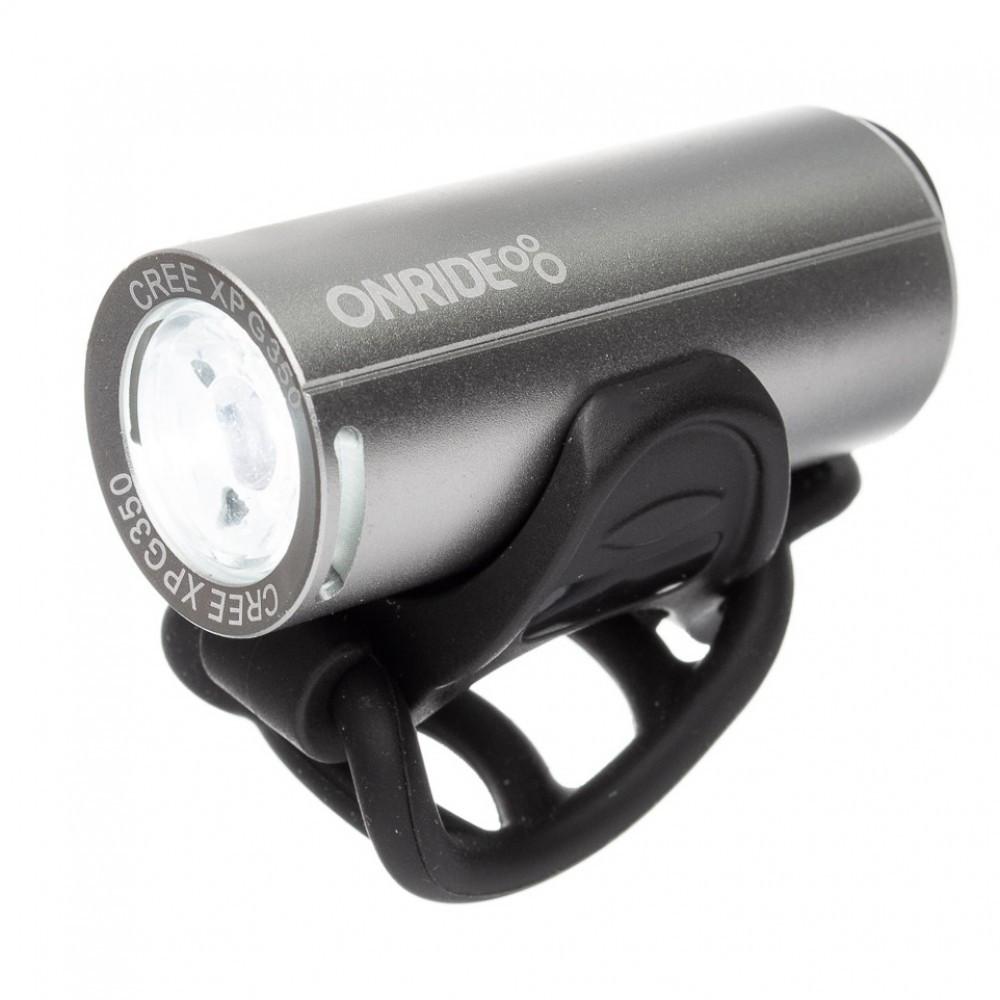 Передній ліхтар ONRIDE Cub USB 200 Lm Сріблястий 6931610355