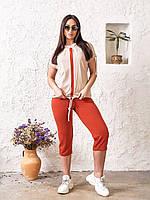 Сильный женский костюм на лето (футболка + бриджи)