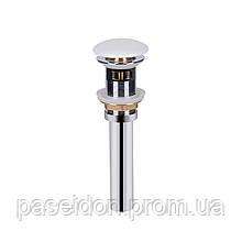 Донный клапан для раковины Qtap PU02O WHITE с переливом