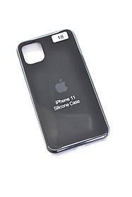 Чохол для телефону iPhone 11 Silicone Case original FULL №9 black