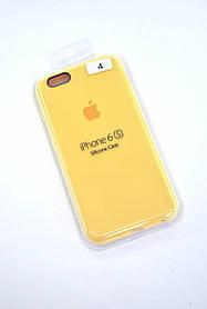 Чохол для телефону iPhone 6 / 6S Silicone Case original FULL №17 yellow