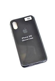Чохол для телефону iPhone X / XS Silicone Case original FULL №9 black