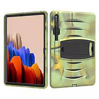 Чехол Heavy Duty Case для Samsung Galaxy Tab S7 Plus 12.4 T970 / T975 Green Camo
