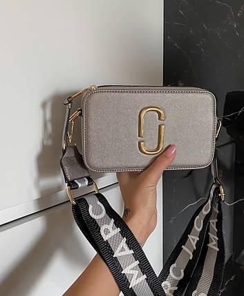 """Сумка Marc Jacobs Snapshot Silver """"Серебристая"""", фото 2"""