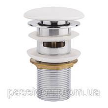 Донный клапан для раковины Qtap F0081 WHI с переливом