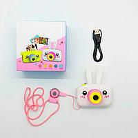"""Дитячий цифровий фотоапарат """"сhildren's fun camera - білий заєць"""", фото-камера для дітей (дитячий фотоапарат)"""