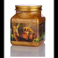Натуральный cкраб для лица и тела Wokali Snail Face and Body Scrub с муцином улитки 500 мл