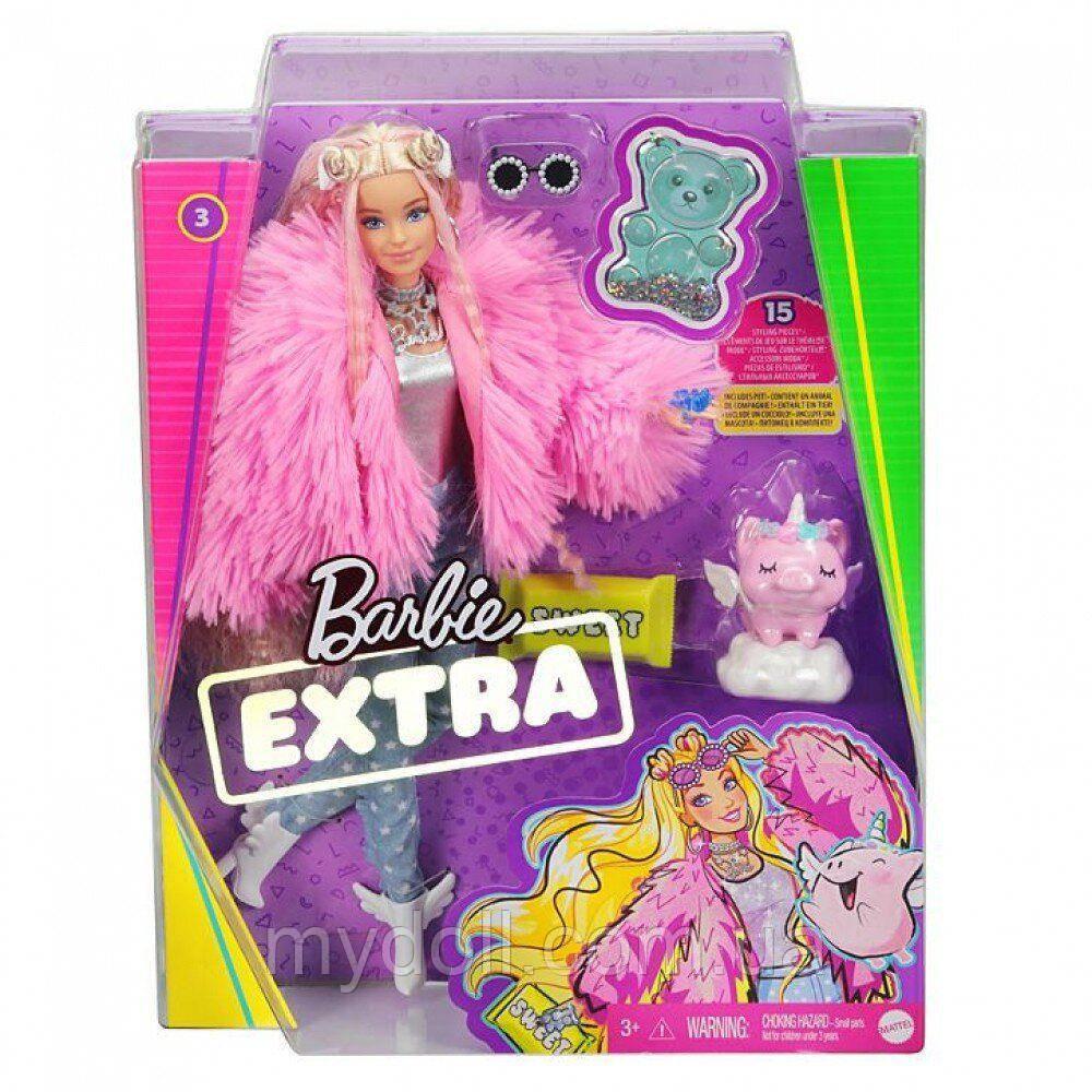 Лялька Barbie Extra Style Барбі Екстра Стильна Модниця - блондинка Doll #3 Pink GRN28