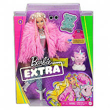 Кукла Barbie Extra Style Барби Экстра Стильная Модница - блондинка Doll #3 Pink GRN28