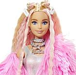 Кукла Barbie Extra Style Барби Экстра Стильная Модница - блондинка Doll #3 Pink GRN28, фото 4