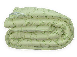 Ковдра Leleka-Textile Бамбук Двоспальний 172х205 см Білий з зеленим (1005501)