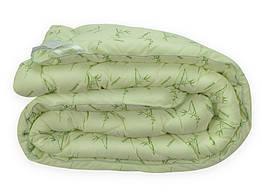 Одеяло Leleka-Textile Бамбук Евро 200х220 см Белый с зеленым (1005502)