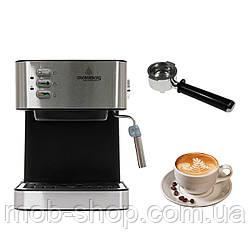 Электрическая рожковая кофеварка Crownberg CB 1565 кофемашина эспрессо с капучинатором 15 бар