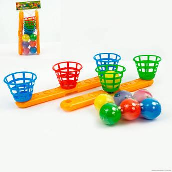 Игрушка для улицы баскетбол 15142, 6 мячиков в наборе