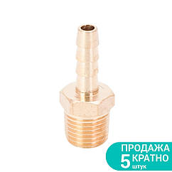 """Штуцер для шлангу з зовнішнім різьбовим з'єднанням 6мм MT 1/4"""" (латунь) SIGMA (7023421)"""