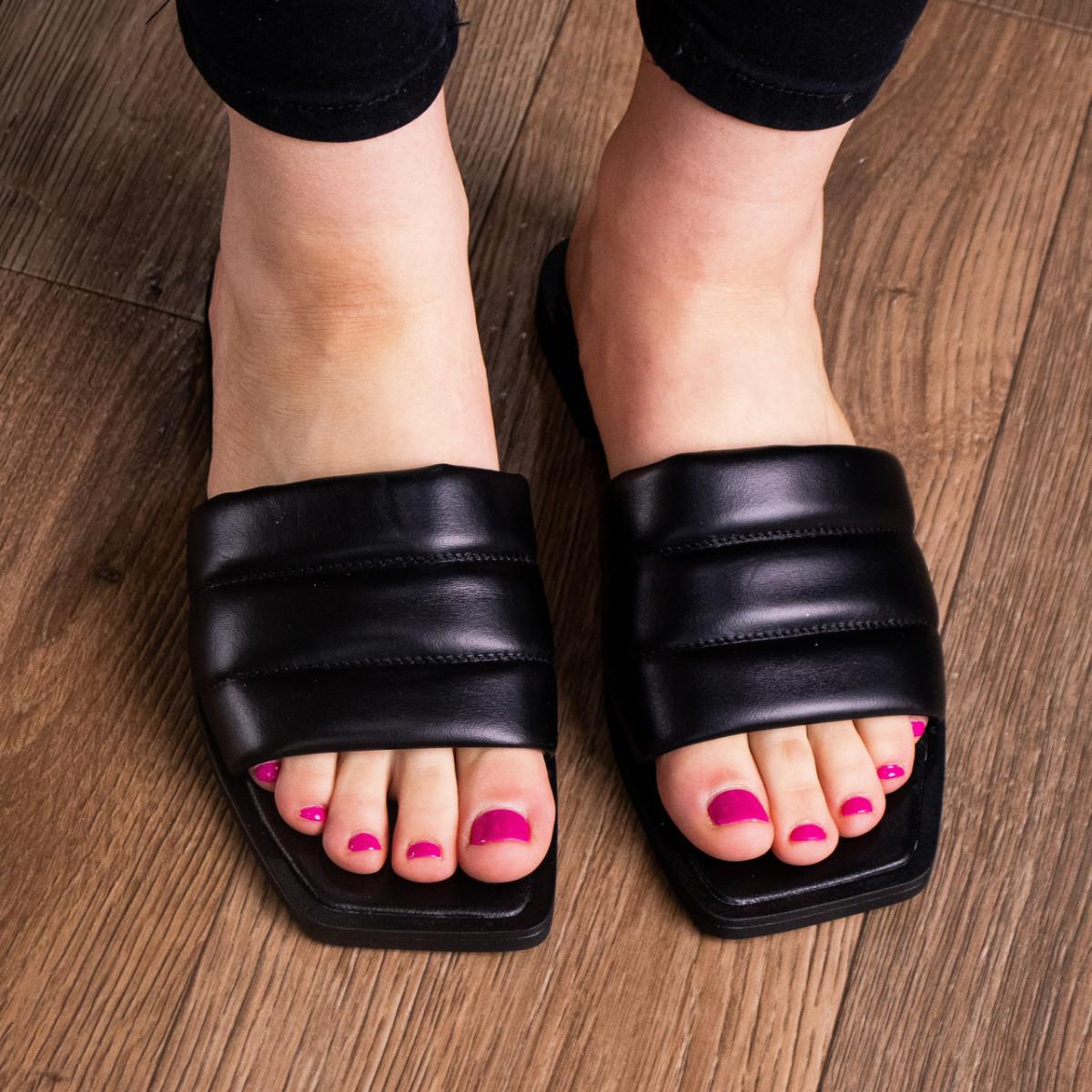 Шлепанцы женские Fashion Isis 2882 36 размер 23,5 см Черный
