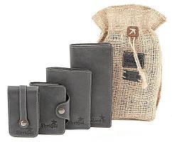 Набор из кожаных аксессуаров SHVIGEL Черный 10079, КОД: 1402294