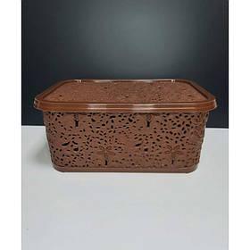 Корзина для хранения бытовых вещей Elif Plastik Ажур 6 л Терракотовый
