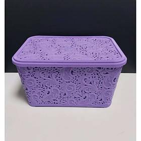 Корзина для хранения бытовых вещей Elif Plastik Ажур 7,5 л Фиолетовый