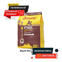 Сухой корм JOSERA Optiness 900 г (Йозера Оптинес) корм для взрослых собак с пониженным содержанием белка
