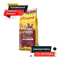 Сухой корм JOSERA Optiness 15 кг (Йозера Оптинес) корм для взрослых собак с пониженным содержанием белка