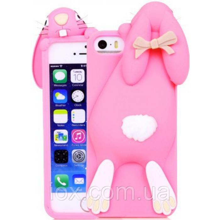 Чехол розовый зайчик iphone 5/5S Moschino
