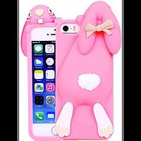 Чехол розовый зайчик iphone 5/5S Moschino, фото 1