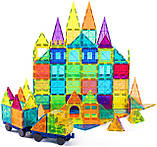 Магнітний конструктор cossy Kids Magnet Toys Magnetic Tiles, 120 PCs Magnetic Building Blocks with Car 2, фото 2