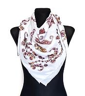 Легкий платок Бажена 95*95 см белый 1