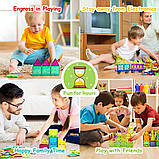 Магнитный конструктор cossy Kids Magnet Toys Magnetic Tiles, 120 PCs Magnetic Building Blocks with 2 Car, фото 6
