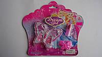 Игрушечная Косметика Dream Girl ― детская косметика на блистере.Набор детской косметики.Набор декоративной кос