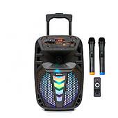Активная акустическая система BIG PRO 130TRANSFORMER USB/MP3/FM/BT/TWS + 2 беспроводных микрофона 130 Ватт
