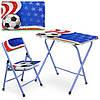 Столик A19-FB складаний, стільниця, 1стільчик, футбол, кор., 60-40 см.