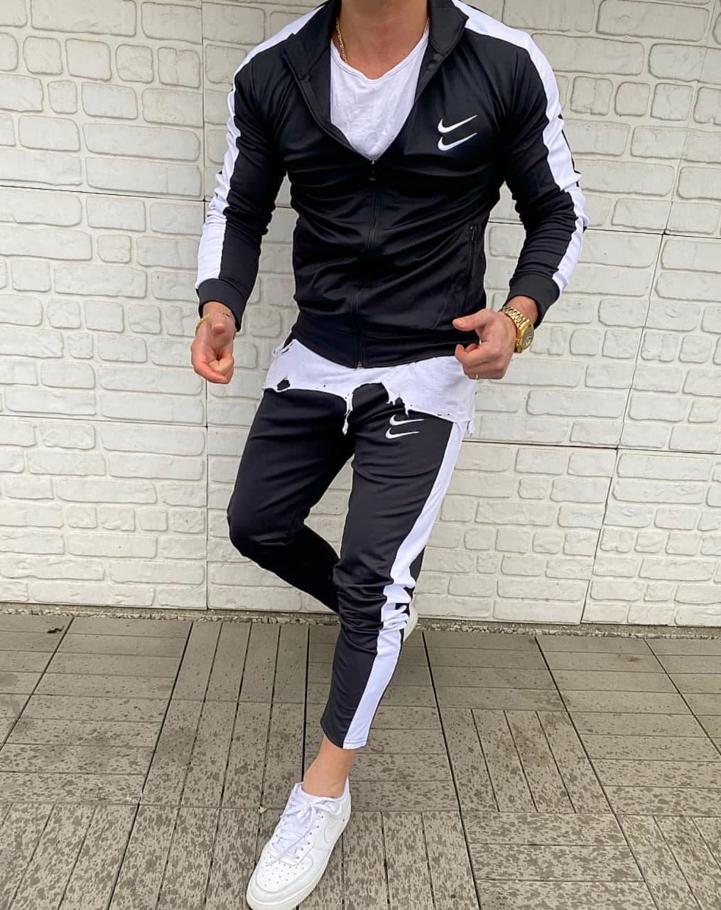 Мужской спортивный костюм Nike Black/White