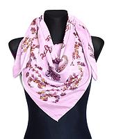 Легкий платок Бажена 95*95 см розовый