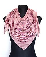 Легкий платок Бажена 95*95 см пудровый