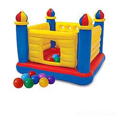 Intex надувний батут 48259-1 Замок 175 х 175 х 135 см з кульками 10 шт (hub_vilt1z)