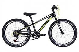 Велосипед AL 24 Discovery QUBE Vbr, рама 11,5 Чорний / жовтий (OPS-DIS-24-270)