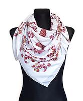 Легкий платок Бажена 95*95 см светло-серый