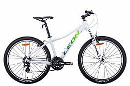 Велосипед AL Leon 26 HT-LADY, Vbr, рама 17,5 Білий / салатовий (OPS-LN-26-067)